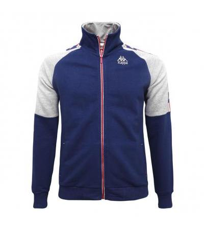 FELPA ATHLETIC FULL ZIP BLU KAPPA