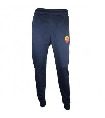 PANTALONE TRAINING FELPATO BLU AS ROMA