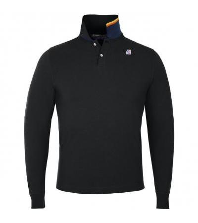 POLO MANICHE LUNGHE NERA K-WAY