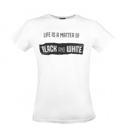 T-SHIRT BIANCA BLACK AND WHITE JUVENTUS
