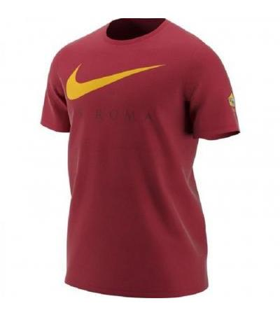 T-SHIRT SWOOSH ROSSA AS ROMA